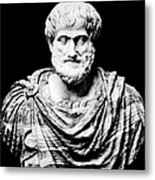 Aristotle, Ancient Greek Philosopher Metal Print