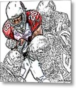 Arizona Cardinals Chester Taylor Seattle Seahawks David Hawthorne Clinton Mcdonald And Red Bryant Metal Print