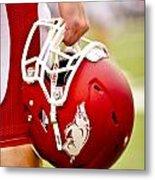 Arkansas Razorback Helmet Metal Print by Replay Photos