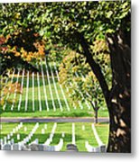 Arlington National Cemetery In The Fall  Metal Print