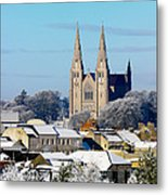 Armagh Cathedral In The Snow Metal Print