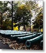 Army Cannons In A Row Metal Print by Army Athletics