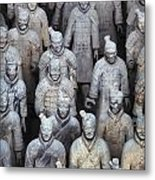 Army Of Terracotta Warriors In Xian Metal Print
