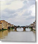 Arno River In Florence Italy Metal Print