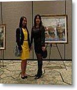 Art Exhibit Paintings Metal Print