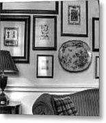 Art Room In Black And White Metal Print