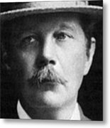 Arthur Conan Doyle, Scottish Author Metal Print