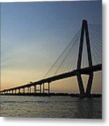 Arthur Ravenel Jr Bridge Over The Cooper River Charleston Sc Metal Print