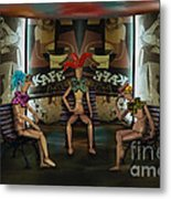 Articulated Chattering Metal Print