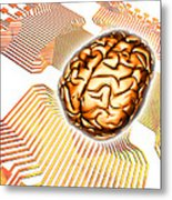 Artificial Intelligence, Computer Artwork Metal Print by Pasieka