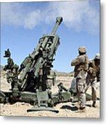 Artillerymen Fire-off A Round Metal Print