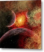 Artist Concept Illustrating The Stellar Metal Print