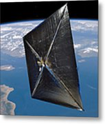 Artist Concept Of Nanosail-d In Space Metal Print