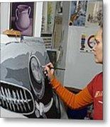 Artist In Action Metal Print