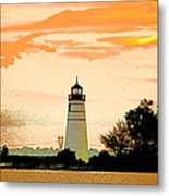 Artistic Madisonville Lighthouse Metal Print