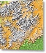 Artistic Map Of Southern Appalachia Metal Print