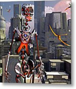 Artists Concept Of A City Of The Future Metal Print