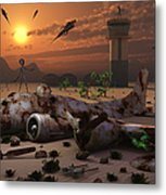 Artists Concept Of A Science Fiction Metal Print