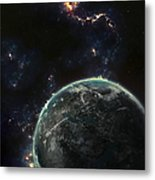 Artists Concept Of A Terrestrial Planet Metal Print by Tomasz Dabrowski