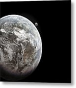 Artists Concept Of Earth As A Lifeless Metal Print