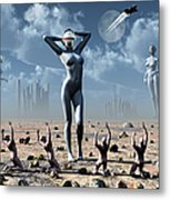 Artists Concept Of Mankinds Reliance Metal Print