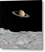 Artists Concept Of Saturn As Seen Metal Print