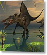 Artists Concept Of Spinosaurus Metal Print