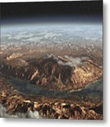 Artists Concept Showing A Lake Metal Print