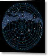 Artwork Of The Celestial Southern Hemisphere Metal Print