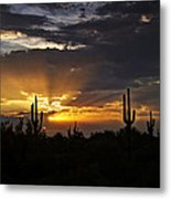 As The Sun Sets In The West  Metal Print