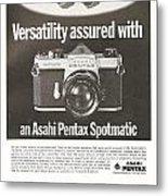 Asahi Pentax Spotmatic Metal Print