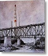 Asarco In Pen And Ink Metal Print by Candy Mayer