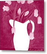 Ashes Of Roses Tulips Metal Print