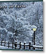 Asheville Peace Card Metal Print
