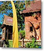Asia Theming And Flags At Animal Kingdom Walt Disney World Prints Accented Edges Metal Print