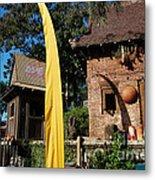 Asia Theming And Flags At Animal Kingdom Walt Disney World Prints Metal Print
