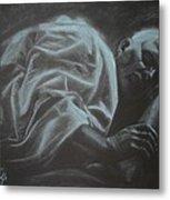 Asleep At The Mount Of Transfiguration Metal Print