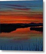Assateague Bayside Sunset Metal Print