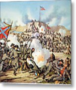 Assault On Fort Sanders Metal Print by Granger