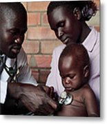 Assessing A Sick Child Metal Print