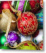 Assorted Beautiful Ornaments Metal Print by Garry Gay