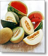 Assortment Of Melons Metal Print by David Munns