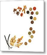 Assortment Of Spices Metal Print