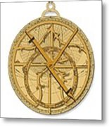 Astrolabe, Historical Artwork Metal Print by Detlev Van Ravenswaay