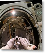 Astronaut Takes A Self-portrat Metal Print