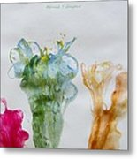 Asymetrical Flowers Metal Print