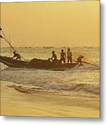 At Dawn In Puri Metal Print