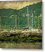 At Home In The Harbor - Atlantic Highlands  Nj Metal Print