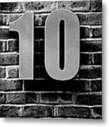 At Number 10 Metal Print
