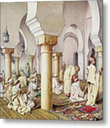 At Prayer In The Mosque Metal Print